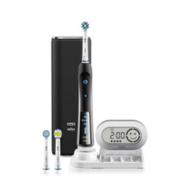 Oral-B 7000 Black Electric Toothbrush  incl. 3 Brush Head Refills & Travel Case