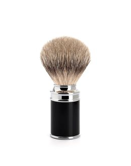 Silver Tip Fine Badger Brush - Black