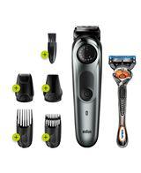 Beard trimmer with Precision Dial, 4 Attachments and Gillette Fusion5 ProGlide Razor