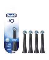 iO Ultimate Clean Replacement Brush Heads 4 Pack - Black