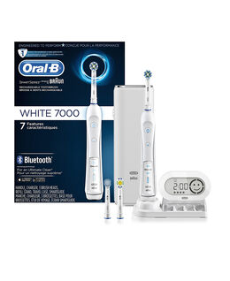 Oral-B 7000 White Electric Toothbrush incl. 3 Brush Head Refills & Travel Case