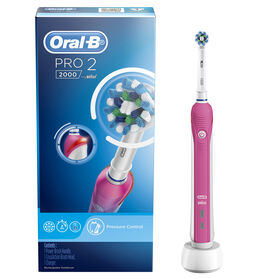 Pro 2 Cross Action Electric Toothbrush - Pink