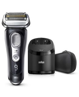 Series 9  Latest Generation Wet & Dry Electric Shaver with Clean & Charge Station and Fabric Travel Case