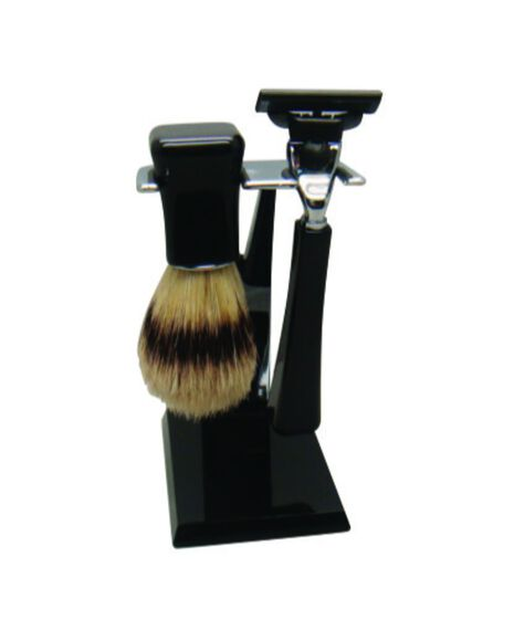 Mach 3 Razor and Boar Bristle Brush Shave Set