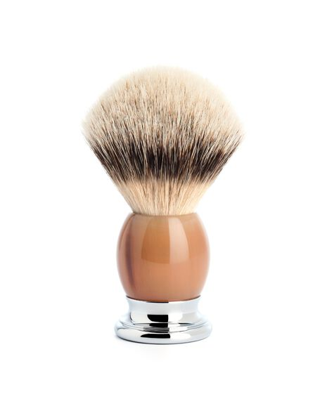 Silver Tip Badger Brush - Buffalo Horn