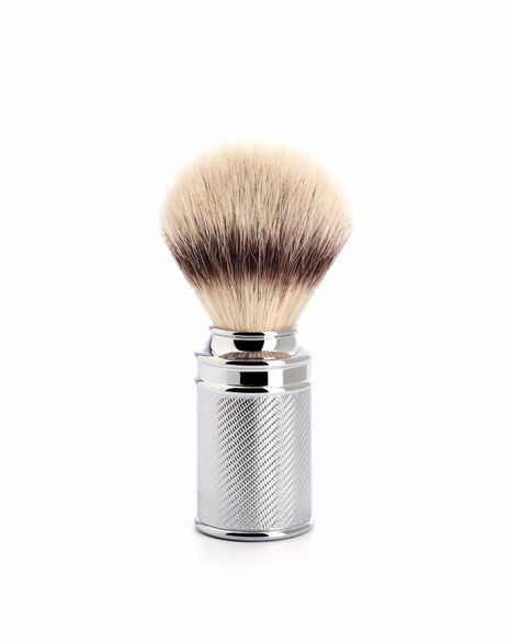 Silver Tip Brush - Chrome