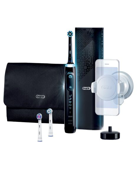 Genius AI Electric Toothbrush with 3 Replacement Heads & Smart Travel Case, Black