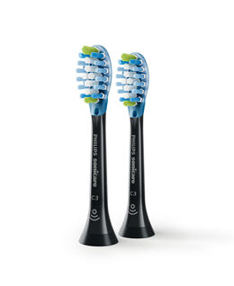 C3 Premium Plaque Defence Black Toothbrush Heads - 2 Pack