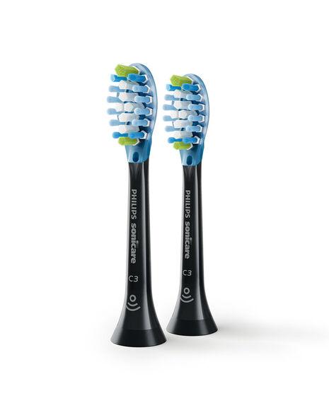 C3 Premium Plaque Defence Black Toothbrush Heads - 2 Pack