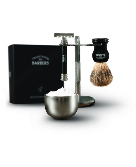 Traditonal Barbers 4 Piece Classic Shave Set