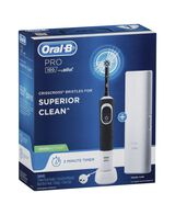 Pro 100 Cross Action Electric Toothbrush, Black