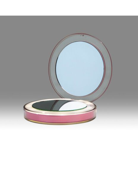 Chic Rechargeable Compact Mirror - Dusty Pink