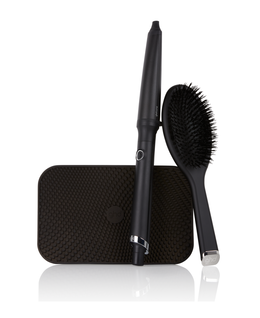 creative curl wand gift set with oval dressing brush & bag