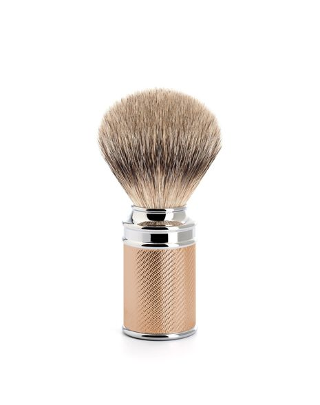 Silver Tip Badger Brush - Rose Gold
