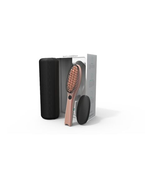 Go Hair Straightening Brush - Rose Gold
