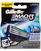 Mach 3 Turbo 4 Pack Blades