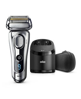 Series 9 Wet/Dry Electric Shaver Silver plus Clean&Charge Station & Travel Case