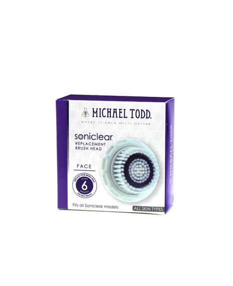 Soniclear Antimicrobial Face Brush - White