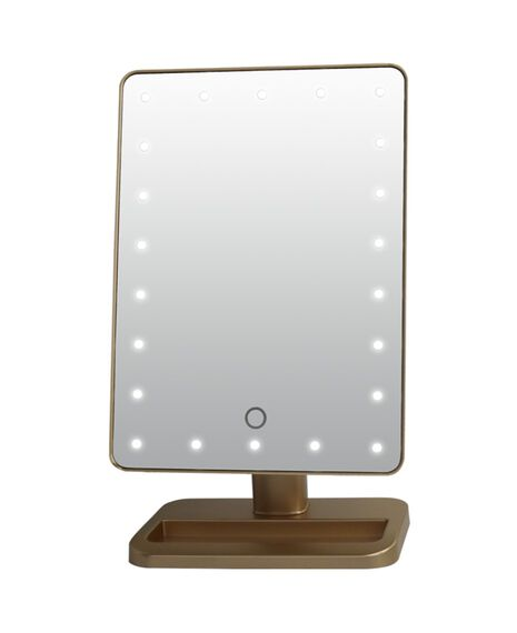 LED Light Up Mirror - Gold