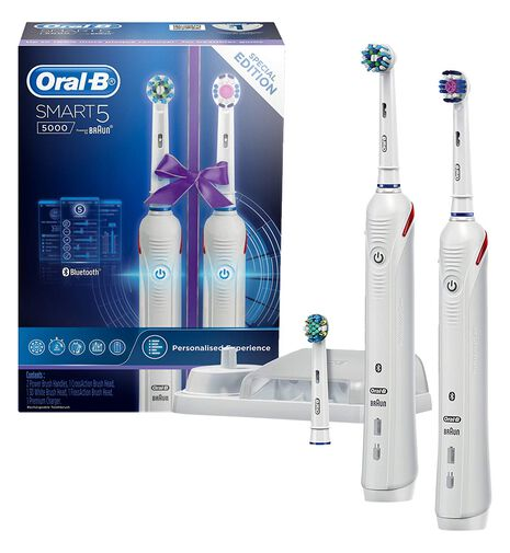 Smart 5000 Electric Toothbrush with 2 Handles