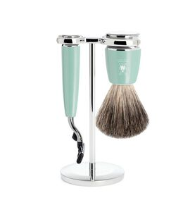 RYTMO Pure Badger Shaving Set with Gillette® Mach3® - Mint