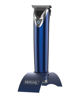 Stainless Steel Lithium Ion Beard Trimmer - Blue