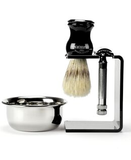 4 Piece Shave Set with Boar Bristle Brush