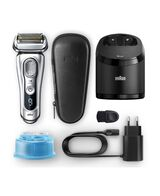 Series 9 Latest Generation Wet & Dry Electric Shaver with Clean & Charge Station and Leather Travel Case