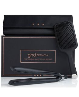 platinum+ with paddle brush & heat-resistant bag gift set