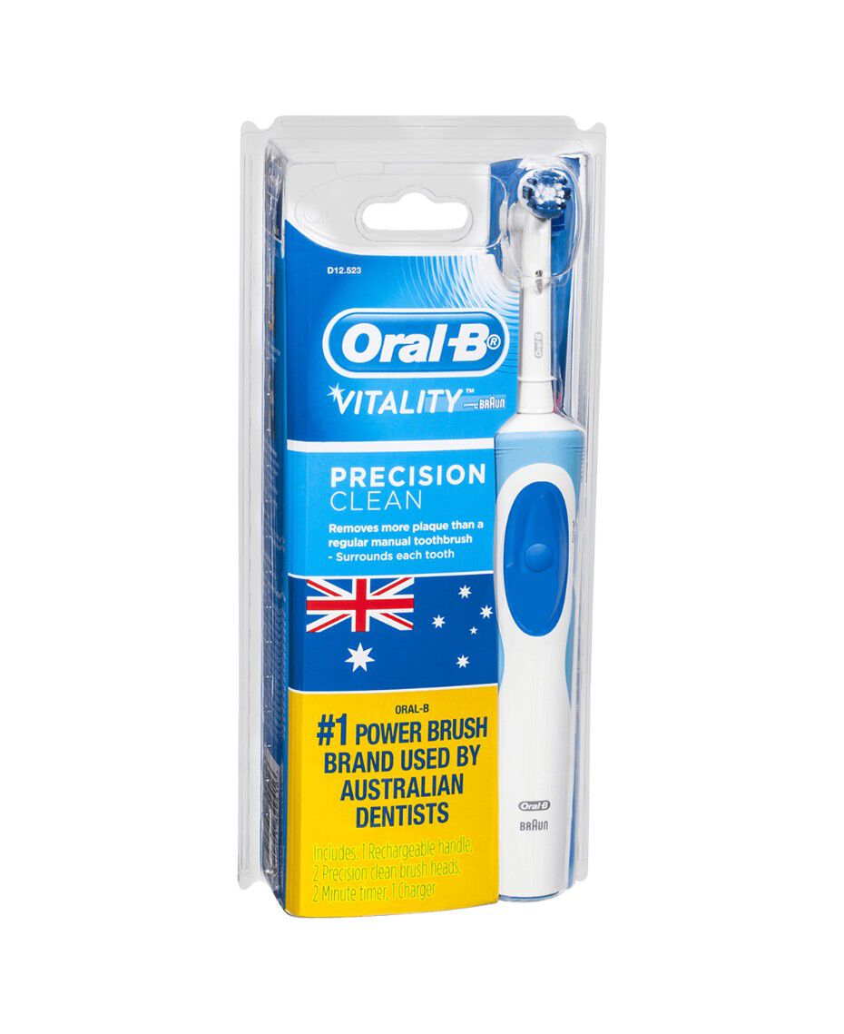 oral b vitality precision clean electric toothbrush incl 1 extra head refill shaver shop. Black Bedroom Furniture Sets. Home Design Ideas