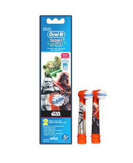 Oral-B Stages Kids Disney STAR WARS Toothbrush Brush Head Refills 2 Pack