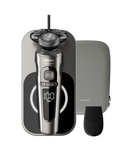 Series 9000 Prestige Shaver with Qi Charging Pad and Precision Trimmer