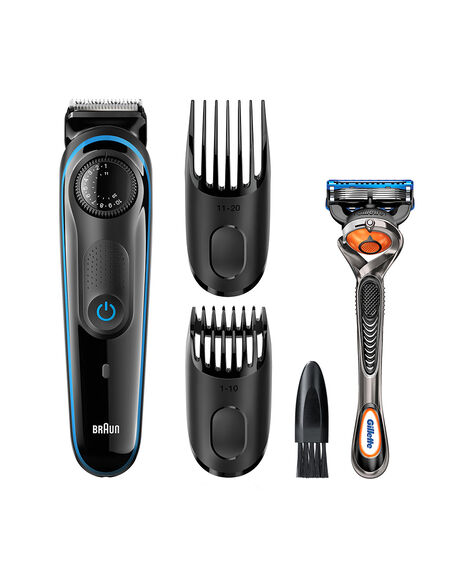 braun beard trimmer 39 length settings plus free gillette fusion proglide manual razor. Black Bedroom Furniture Sets. Home Design Ideas