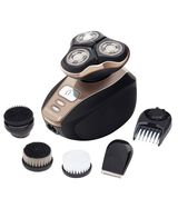 Quick Shave Pro XR1415AU Electric Shaver with 4 Grooming and Cleansing Heads