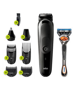 8-in-1 trimmer with 6 attachments and Gillette Fusion5 ProGlide razor
