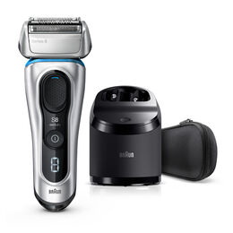 Series 8 Next Generation Wet & Dry Electric Shaver with Clean & Charge Station and Fabric Travel Case