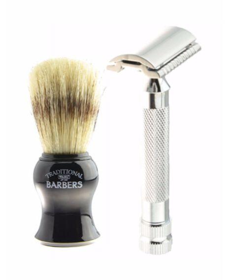 Safety razor & boar brush Gift set
