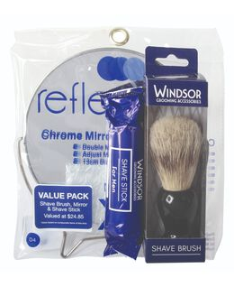 Mirror & Shave Brush Set