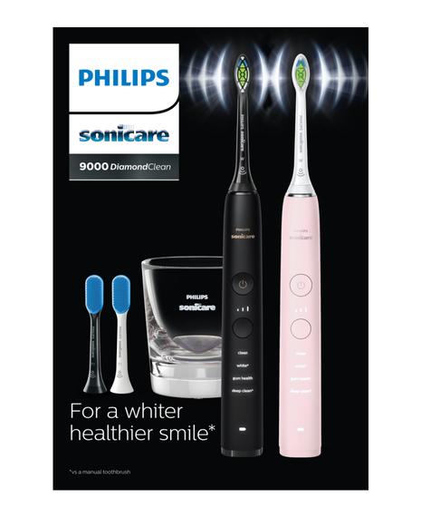 Sonicare DiamondClean 9000 Electric Toothbrush Bundle Pack - Black + Pink