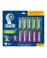 FlossAction & CrossAction Brush Head Refill - 10 pack
