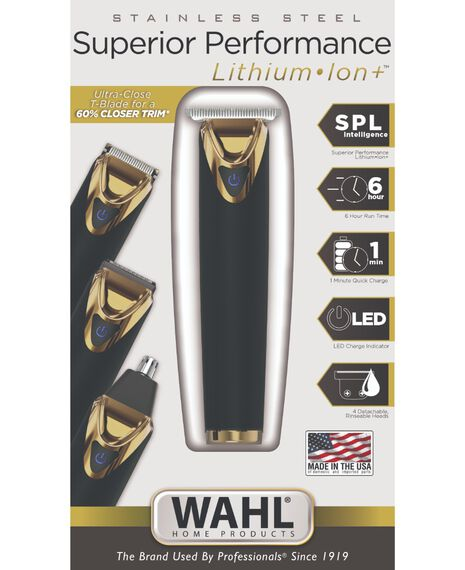 Stainless Steel Superior Performance Lithium Ion Plus Gold Beard Trimmer