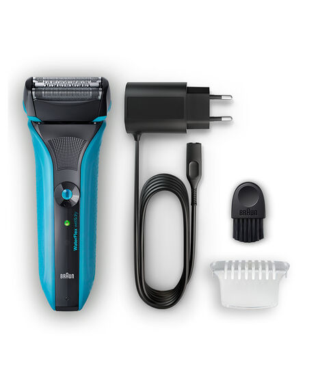 WaterFlex Wet/Dry Electric Shaver Blue with swivel head