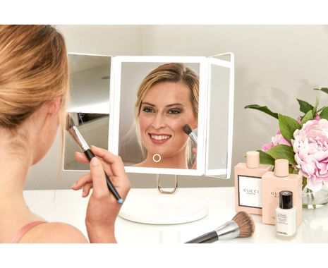 Trifold Rechargeable Vanity Mirror