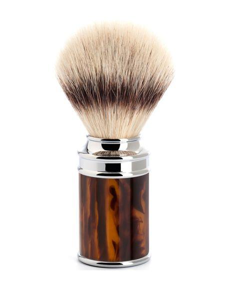 Traditional Silvertip Fibre Shaving Brush - Tortoise