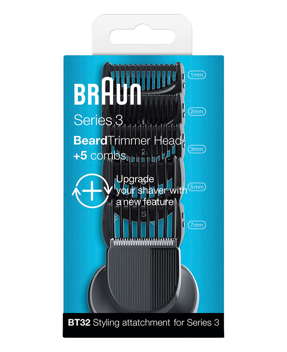 braun series 3 beard trimmer head with 5 combs shaver shop. Black Bedroom Furniture Sets. Home Design Ideas