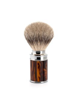 Silver Tip Fine Badger Brush - Tortoise Shell