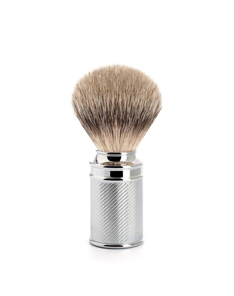Silver Tip Shaving Brush - Chrome