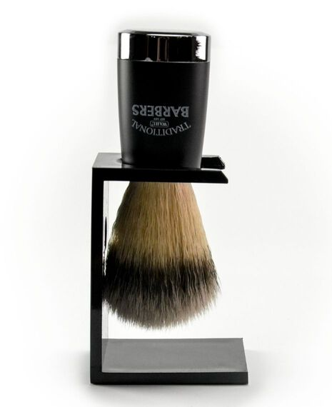 Traditional Barbers Nylon Silver Tip Shave Brush