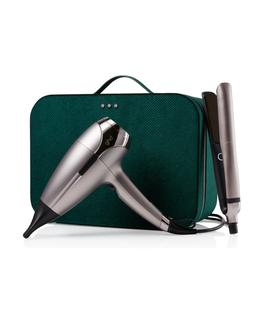 platinum+ hair straightener & helios™ hair dryer deluxe gift set in warm pewter