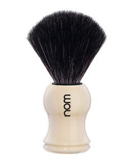 Nom Black Fibre Shaving Brush - Ivory